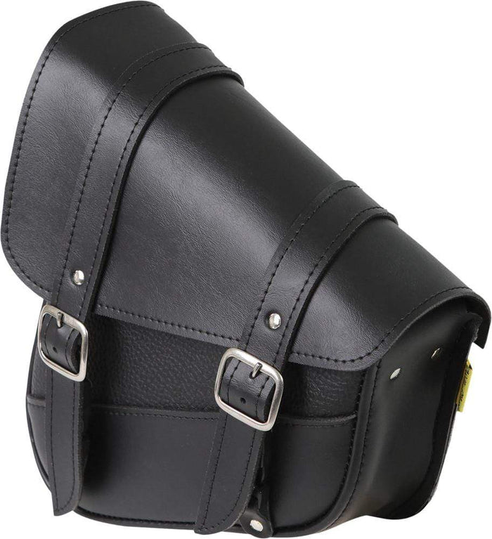 "Black Syn Leather Swingarm Bag 10.5"" X 11.5"" X 4.5"" by Willie & Max"