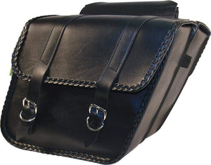 Western Powersports Saddlebag Braided Slant Saddlebag by Willie & Max 58701-20