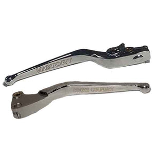 "Taylor Specialties Lever Set Brake & Clutch Lever Set Engraved ""Cross Country"" Chrome Groove by Witchdoctors WD-CCLVR-CHR"