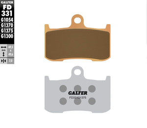 Parts Unlimited Brake Pads Brake Pads Front HH Sintered Ceramic Compound by Galfer FD331G1375