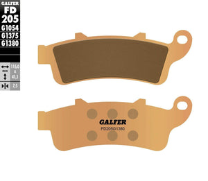 Tucker Rocky Brake Pads Brake Pads Front HH Sintered Compound by Galfer FD205G1380