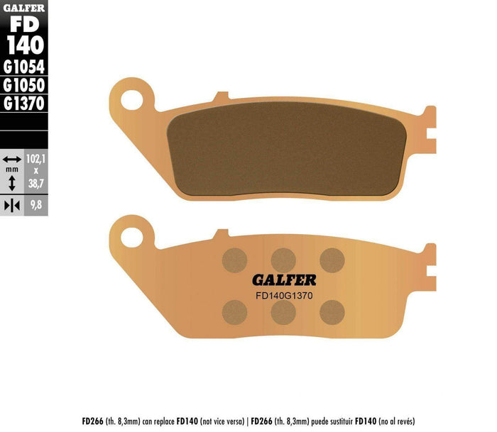 Brake Pads Rear HH Sintered Compound by Galfer