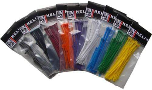"Cable Ties 6"" Grey 100/Pk By Helix"