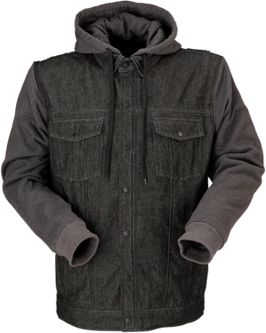 Parts Unlimited Drop Ship Jacket Denim Hoodie by Z1R