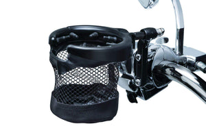 Kuryakyn Beverage Holder Drink Holder with Perch Mount & Mesh Basket Gloss Black by Kuryakyn 1738