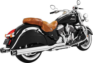 "Western Powersports Drop Ship Exhaust / Mufflers Eagle Slip-On Chrome W/Black Tip 4"" by Freedom Performance IN00032"