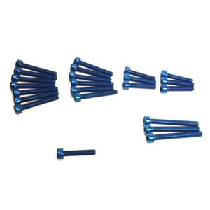Witchdoctors Colored Bolt Kits Engine Dress Up Blue Bolt Kit by Witchdoctor's WD-BKBLU