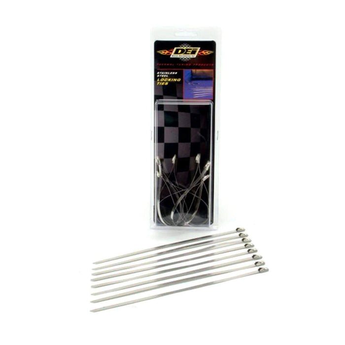 Exhaust Wrap Ties 8in Stainless Steel by DEI