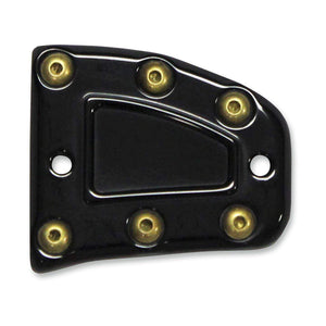 Parts Unlimited Reservoir Cover Front Master Cylinder Cover Black Bomber Series by Carl Brouhard MC-ISF-B