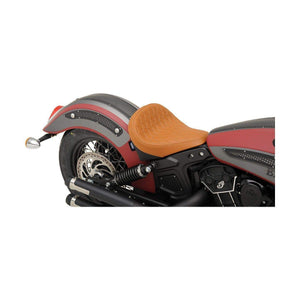 Parts Unlimited Seat Front Solo Seat Diamond Stitch Bobber-Style Brown by Drag Specialties 0810-1986