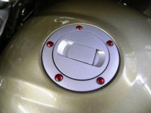 Witchdoctors Colored Push in Buttons Gas Tank Cap Bolt Colored Buttons Red by Witchdoctor's BUT-GTL-RED