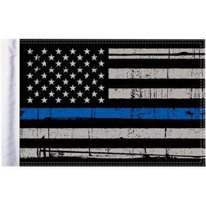 "Parts Unlimited American Flag Grunge U.S.A. Flag - Blue - 10"" x 15"" by Pro Pad FLG-PTBL-US15"