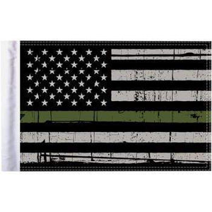 "Parts Unlimited American Flag Grunge U.S.A. Flag - Green - 10"" x 15"" by Pro Pad FLG-GMGL-US15"