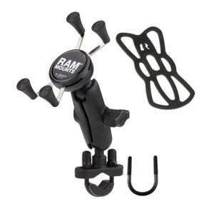 Parts Unlimited Accessory Mount Handlebar Mount w/ Handlebar Rail Mount & X-Grip by Ram Mounts B-149Z-UN7U