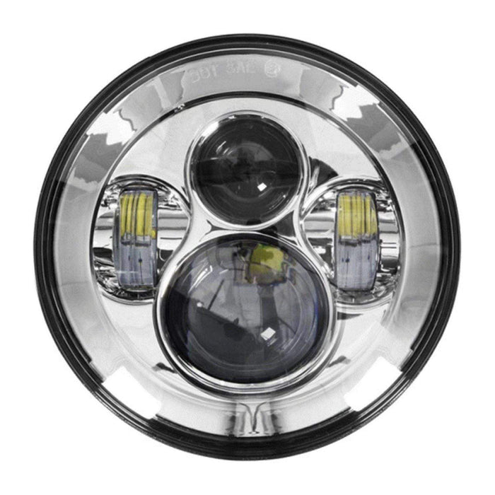 "Headlight 6 LED 7"" Silver by Heise"