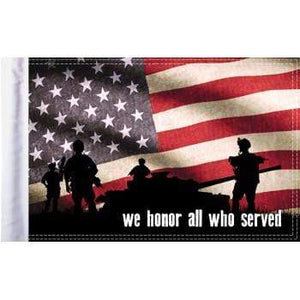 "Parts Unlimited American Flag Honor Flag - 10"" x 15"" by Pro Pad FLG-HONOR15"