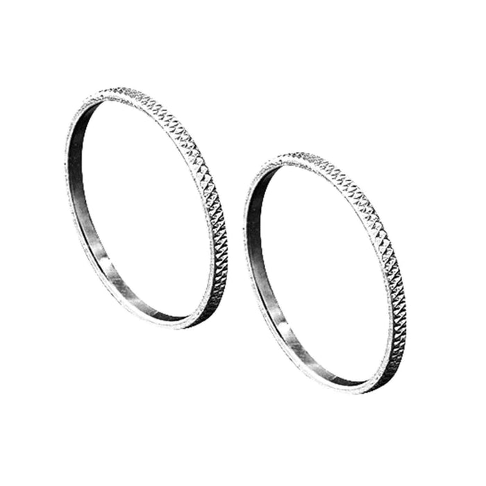 Knurled Accent Rings Chrome by Kuryakyn