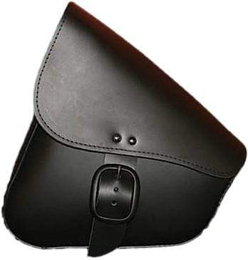 Leather Swingarm Bag Black W/Matte Black Buckle by Willie & Max
