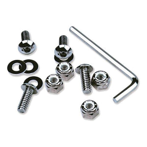 Western Powersports Dress Up Hardware License Plate Bolts Chrome by Motion Pro 33-1000