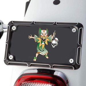 Tucker Rocky Drop Ship License Plate Frame License Plate Frame Beveled Style by Arlen Ness 12-144