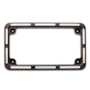 Tucker Rocky Drop Ship License Plate Frame License Plate Frame Black Slot Track Style by Arlen Ness 12-134