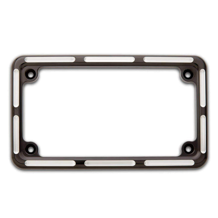 License Plate Frame Black Slot Track Style by Arlen Ness