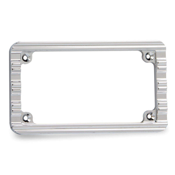 License Plate Frame Chrome 10 Gauge Style by Arlen Ness