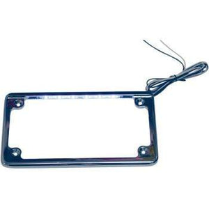 Parts Unlimited License Plate Frame License Plate Frame Illuminated Horizontal Chrome by Custom Dynamics LPF-HRZ-C-LP