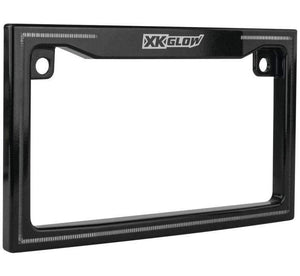 Tucker Rocky License Plate Frame License Plate Frame LED Illuminated Black by XK Glow XK034018