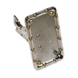 Parts Unlimited License Plate Mount License Plate Side Mount Chrome Bomber Series by Carl Brouhard LP-BSIS-C