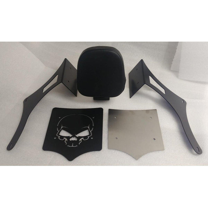 Luggage Rack Black Skull with Backrest for Chiefs by BDD Customs