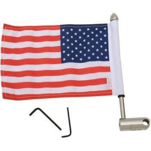 "Parts Unlimited Flag Mount Luggage Rack Flag Mount - 1/2"" Round - With 6"" X 9"" Flag by Pro Pad RFM-RDHB12"