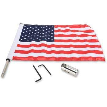 "Luggage Rack Flag Mount - 5/8"" Round - With 6"" X 9"" Flag by Pro Pad"