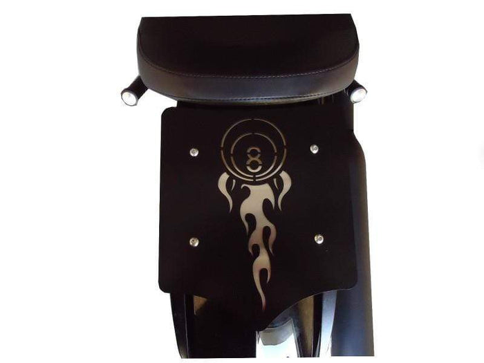 Luggage Rack Solo Seat Flaming 8 Ball by BDD Customs