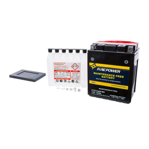 Western Powersports Battery Maintenance Free Sealed Battery by Fire Power CTX14AH-BS