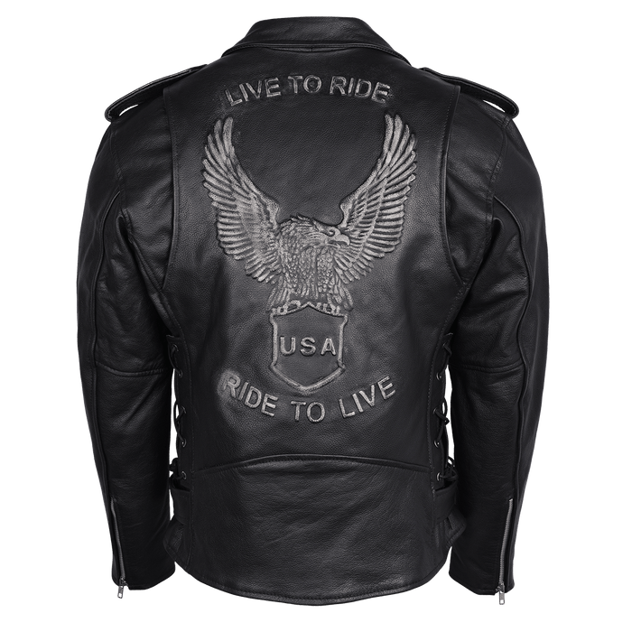 Men's Eagle Embossed Live To Ride by Vance Leathers