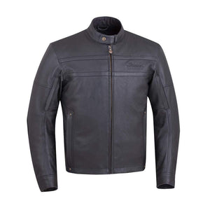 Off Road Express Jacket Men's Leather Beckman Riding Jacket with Removable Lining, Black by Polaris