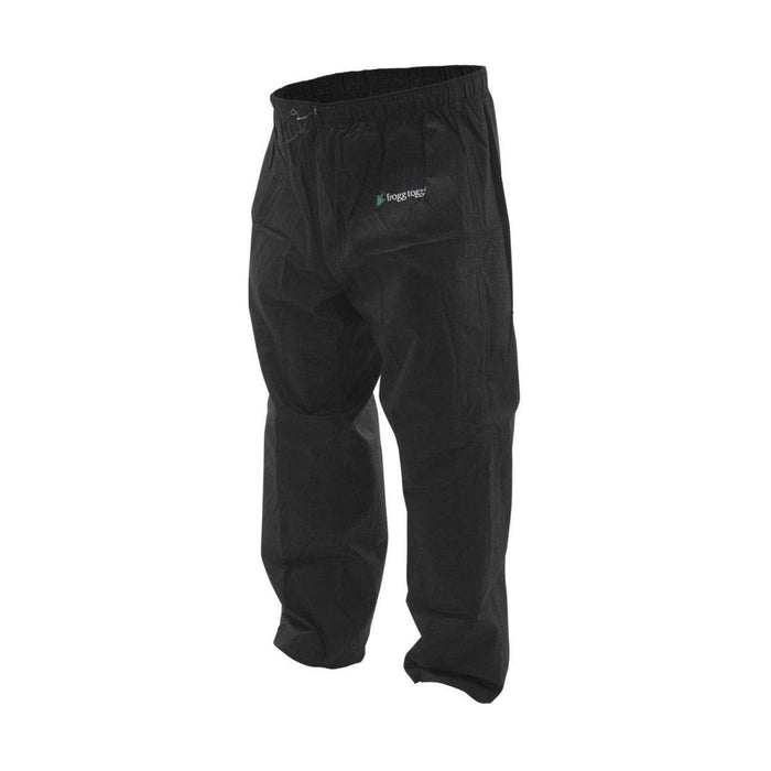 Men's Pro Action Rain Pants Black by Frogg Toggs