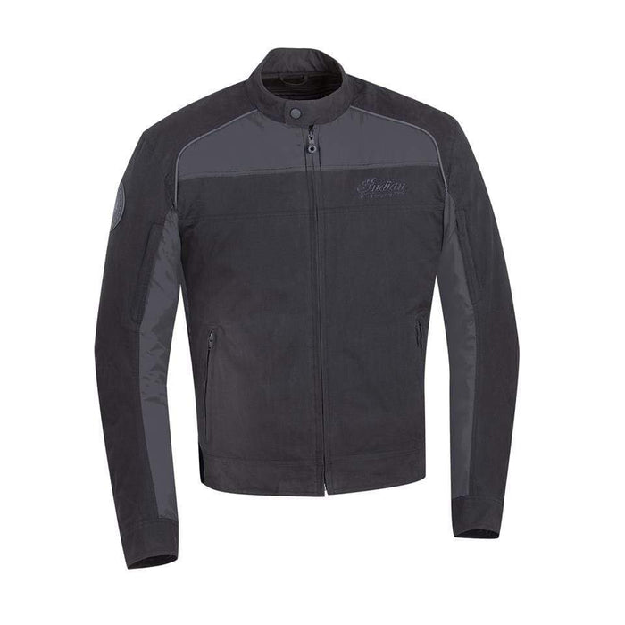 Men's Textile Flint Riding Jacket with Removable Lining, Black by Polaris