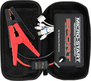 Western Powersports Battery Accessory Micro Start Jump Pack Sport by Anti-Gravity AG-XP-SPT-BLK