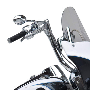Tucker Rocky Drop Ship Mirror Mirror Chrome Cat Eye Softbend Style Left or Right  by Arlen Ness 13-046