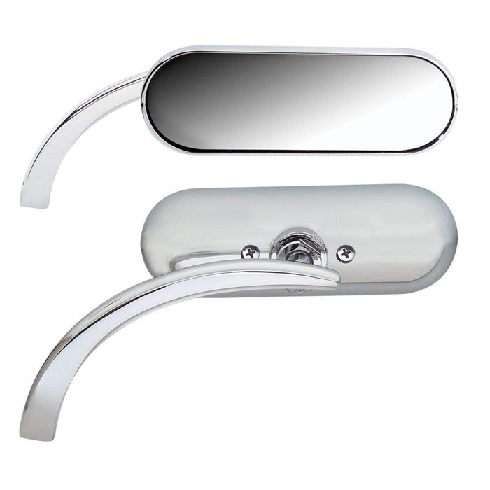 Mirror Chrome Mini-Oval Micro Style Left Side by Arlen Ness