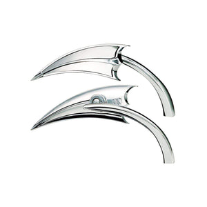 Tucker Rocky Drop Ship Mirror Mirror Chrome Scoop Style Left Side by Arlen Ness 13-060