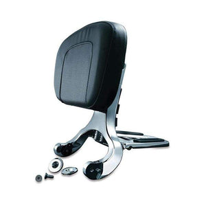 Kuryakyn Seat Accessory Multi-Purpose Chrome Driver & Passenger Backrest by Kuryakyn 1660