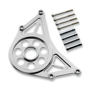 Parts Unlimited Open Belt Cover Open Belt Cover Chrome by Joker Machine 30-800-3