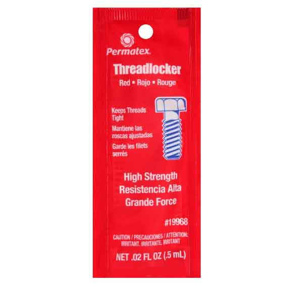 Red Single Use Heavy Duty Thread Locker by Permatex