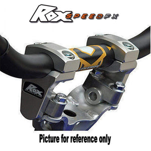 Parts Unlimited Handlebar Riser Pivoting Handlebar Bar Risers +2 inches Machine Finish by Rox Speed FX 4R-P2RX-M