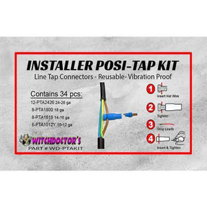 Witchdoctors Electrical Accessory Posi-Tap Installer Kit WD-PLKIT