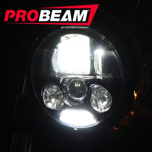 "Custom Dynamics Headlight ProBEAM® 5.75"" LED Headlamp Chrome by Custom Dynamics PB-575-IND-C"