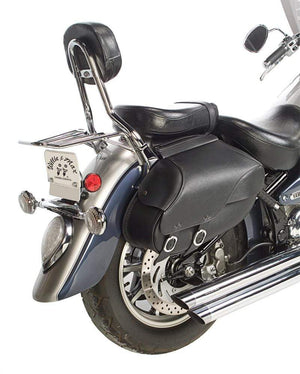 Western Powersports Saddlebag Rev Hard Mount Retro Lg by Willie & Max 59480-00